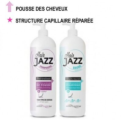 Hair Jazz Shampooing et Baume hyaluronique - Accélérez la croissance de vos cheveux !