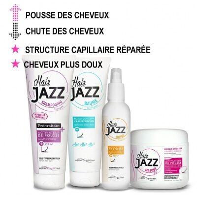 Hair Jazz Shampooing, Lotion, Baume et Masque - Pour la pousse des cheveux!