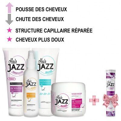 HAIR JAZZ Noël: Shampooing, Lotion, Baume hyaluronique, Masque + Activateur de pousse des cheveux