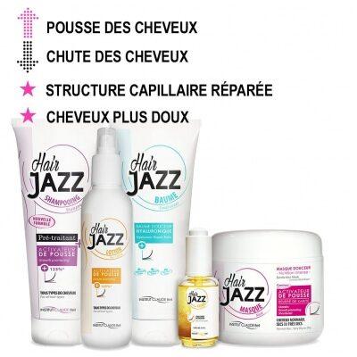 HAIR JAZZ Shampooing, Lotion, Élixir, Baume hyaluronique et Masque - Accélérez la croissance des cheveux