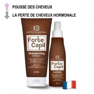 FORTE CAPIL Shampooing et lotion - réduisent la perte de cheveux androgénétique ou hormonale