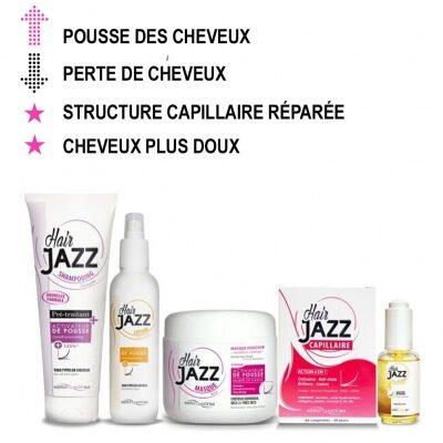 HAIR JAZZ Shampooing, Lotion, Élixir, Baume hyaluronique, Masque et Capillaire - Accélérez la croissance des cheveux