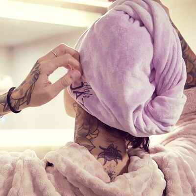 Offert pour toute commande supérieure à 60€: Hair Jazz la serviette-turban!